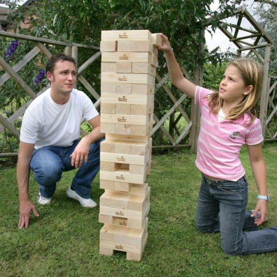 Giant Garden Games Hire Southampton - Giant Jenga Hire